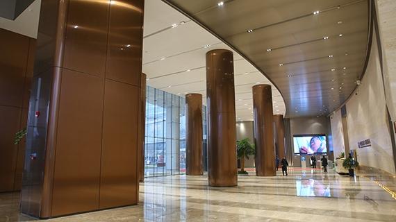 大厅不锈钢柱装饰