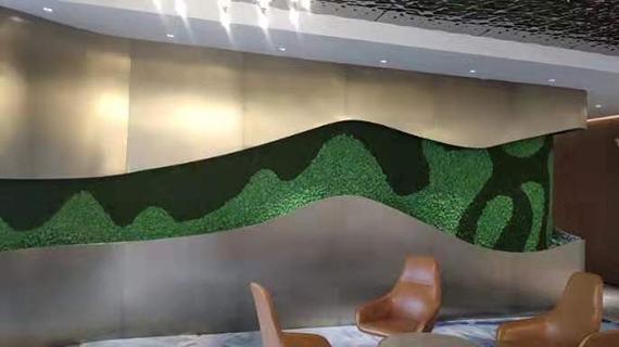 青古铜不锈钢异型植物墙